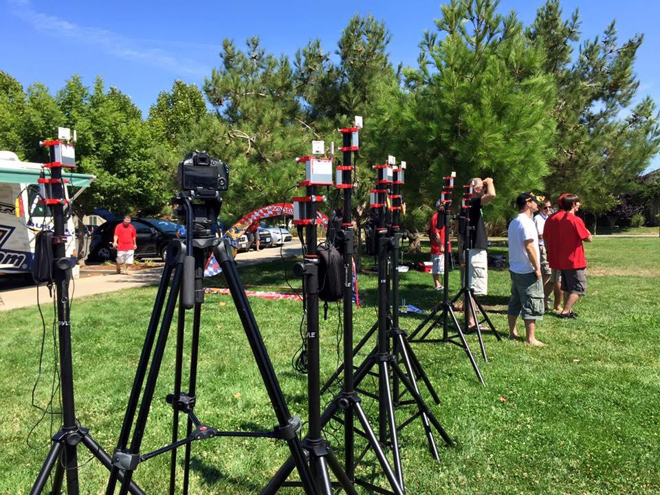 A practice session ahead of the US Drone Racing National Championship
