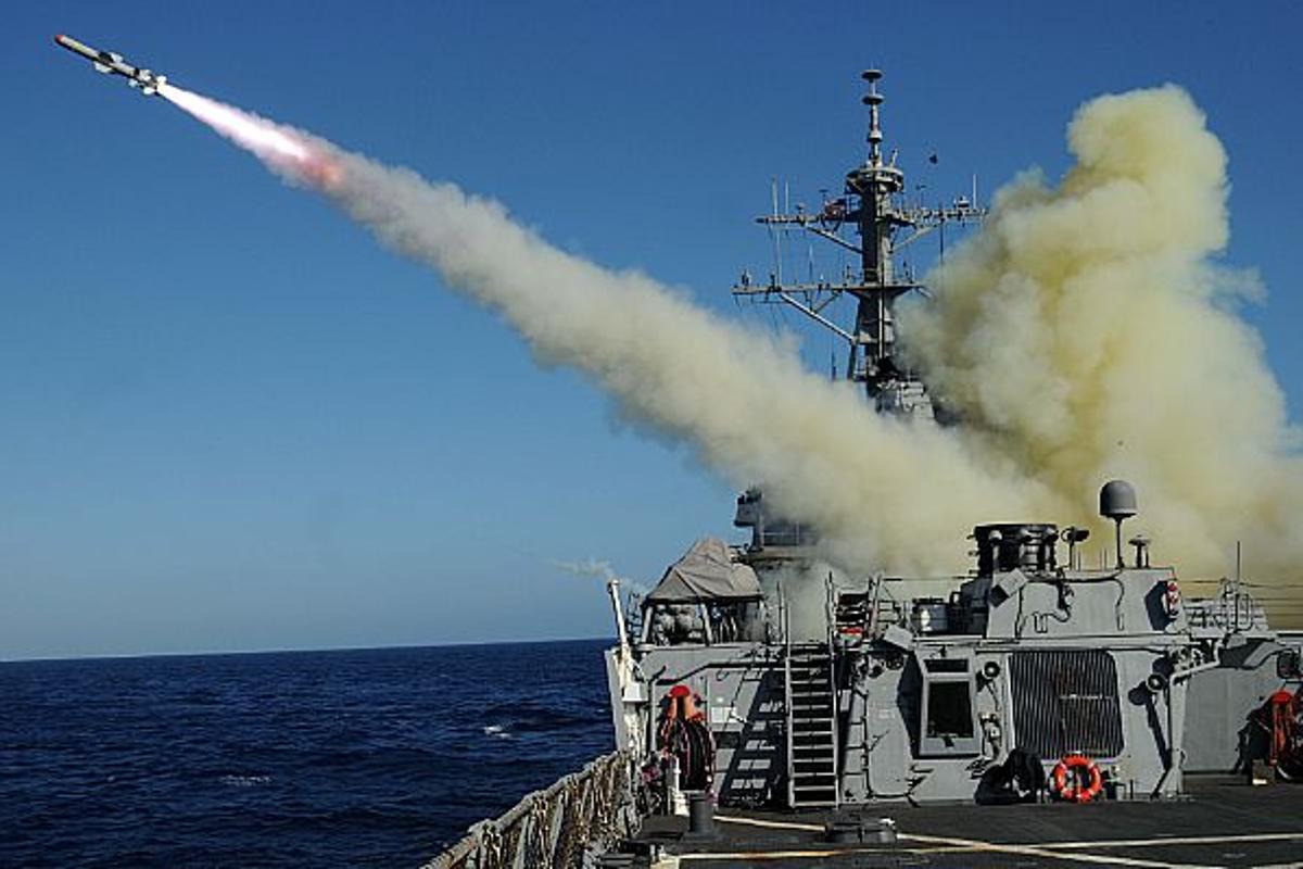 A test of a U.S. Harpoon anti-shipping missile (Photo: Jason C. Winn)