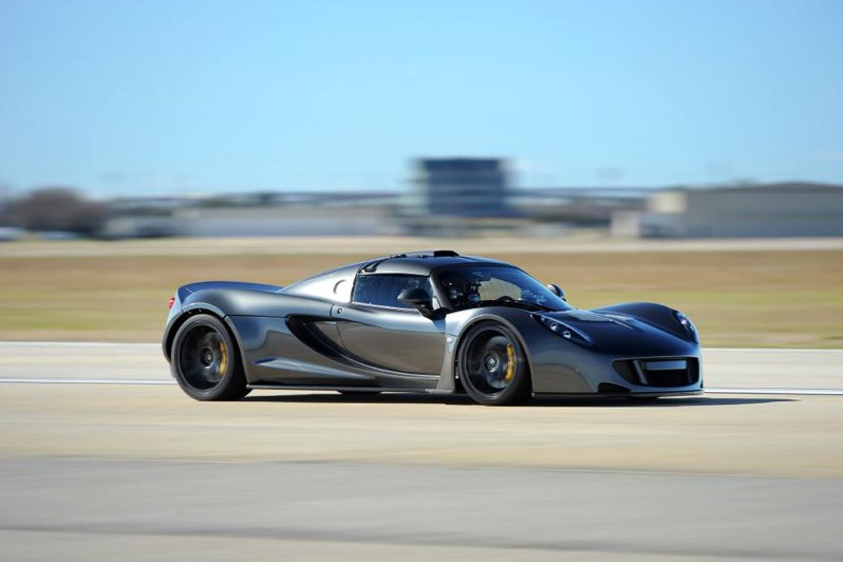 The Hennessey Venom GT that set a new world record by going from 0-300 km/h in 13.63 seconds