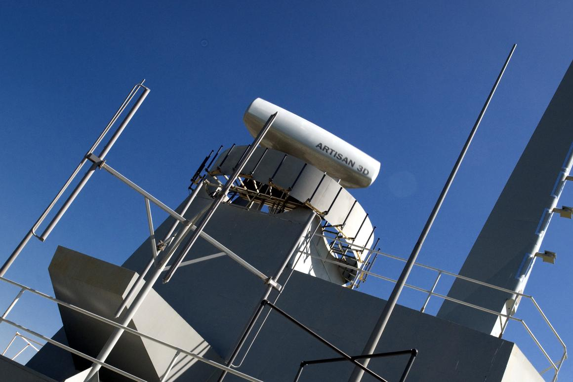 BAE Systems' Artisan 3D Medium Range Radar Type 997