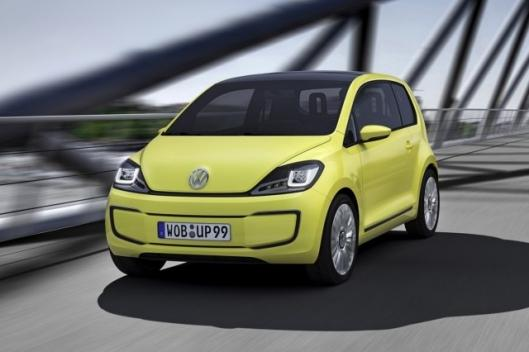 The Volkswagen electric E-Up! Concept will have a top speed 84 mph and an 80 mile range