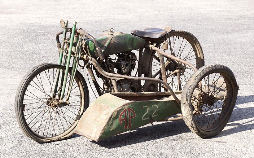Many of these racing bikes ended their lives in spectacular fashion in the pursuit of faster speeds and ever more dangerous competition