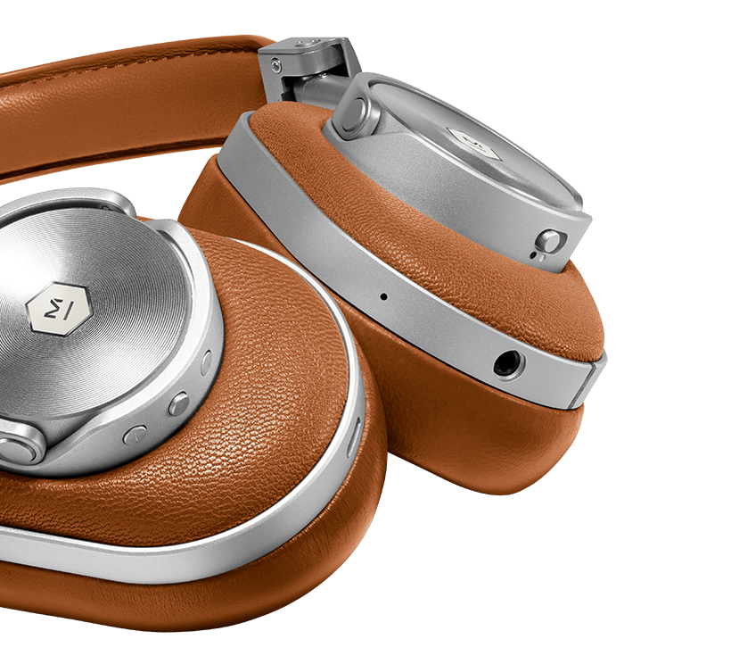 The Master & Dynamic MW60 comes in either gunmetal/black or sliver/brown colors