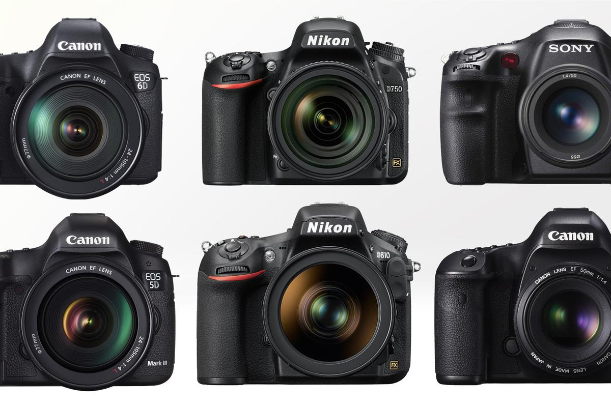 Gizmag compares some of the most popular and best full frame DSLRs available in 2015
