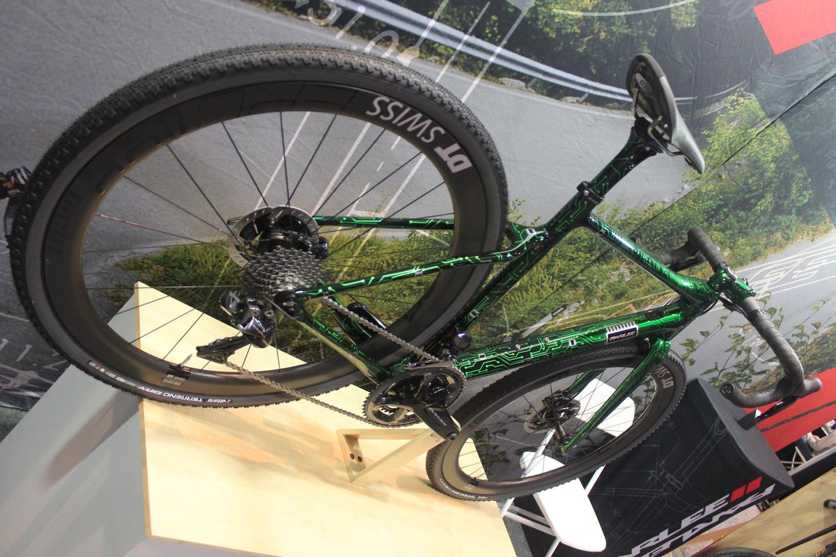 Parlee Cycles' Chebacco cross bike, with its circuit board paint job, was a favorite at the show