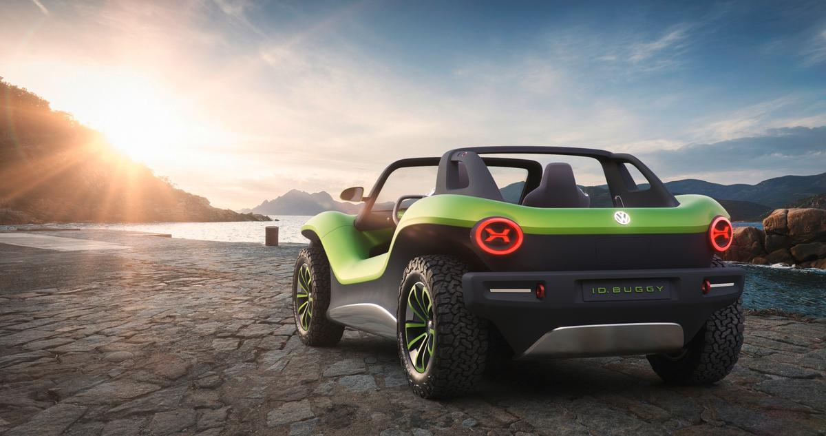 The I.D. Buggy - Volkswagen's take on anelectricdune cruiser for the 2020s.
