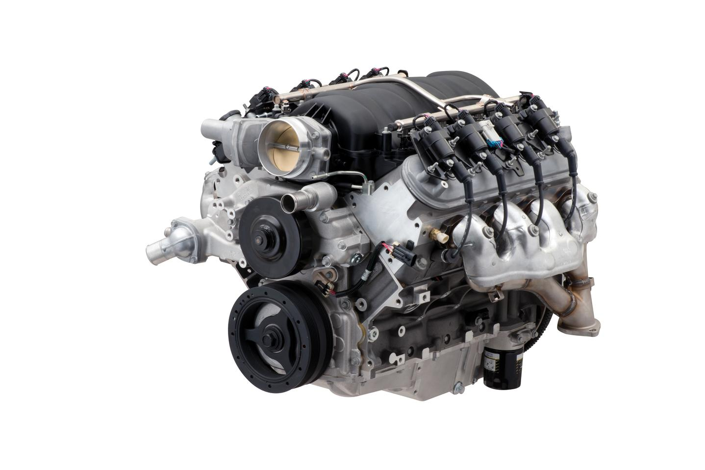 Mightier than the LS7, the new LS427/570 crate engine rocks 570 horsepower, 530 lb-ft and easier installation, whatever you choose to jam it into
