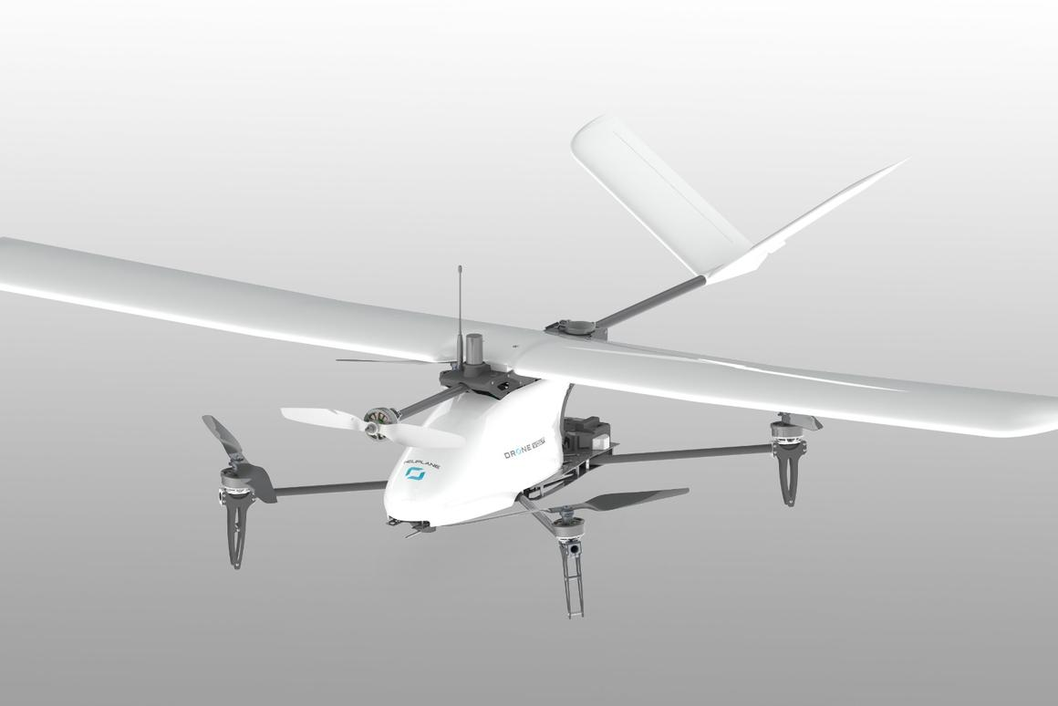 Drone Volt's Heliplane is a multi-mode unmanned aircraft for industrial use