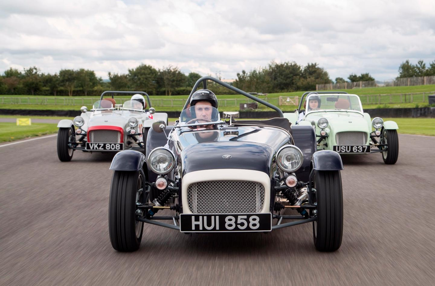 The Caterham SuperSprint was launched at the Goodwood Revival