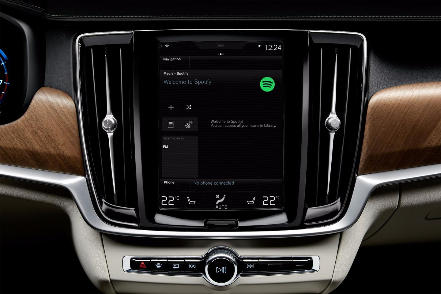 Volvo drivers will be able to access their Spotify playlists, artists and albums via the Sensus in-car interface