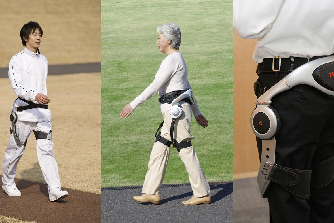 Honda's Walking Assist Device has been under development for 14 years, as has the company's Bodyweight Support Exoskeleton, which has also been tested as a worker assist device