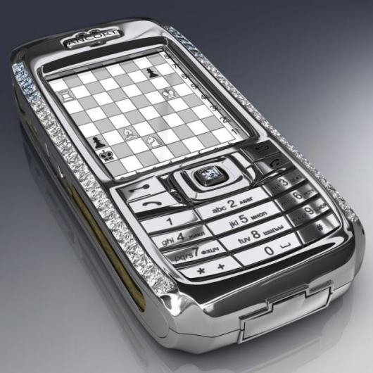 The solid platinum Brilliant Crypto Smartphone