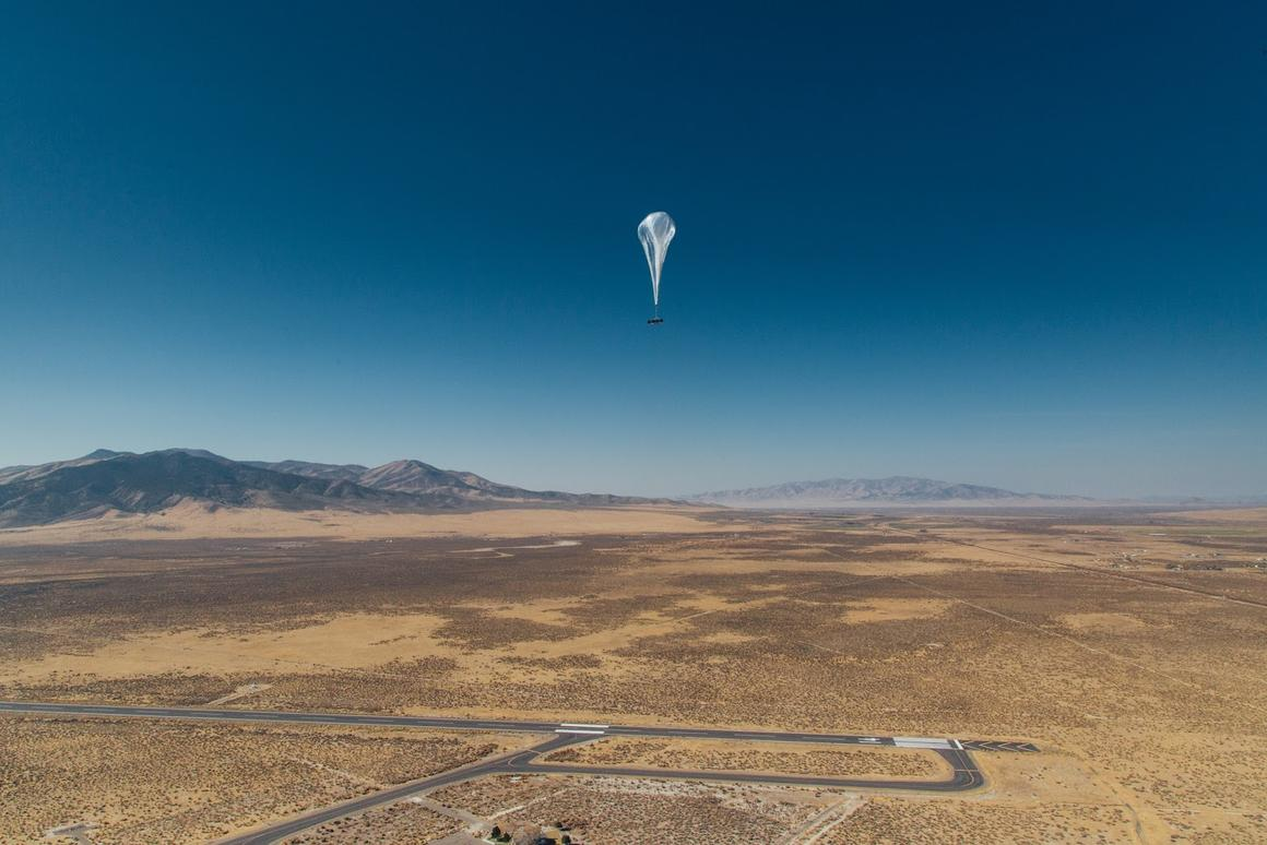 Project Loon launched its balloons from its base inNevada