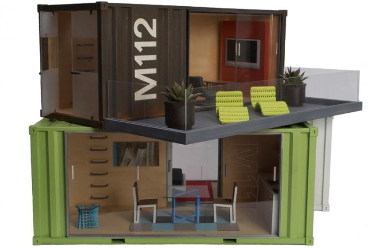 What's better than a shipping container house? A model of a shipping container house. Obviously