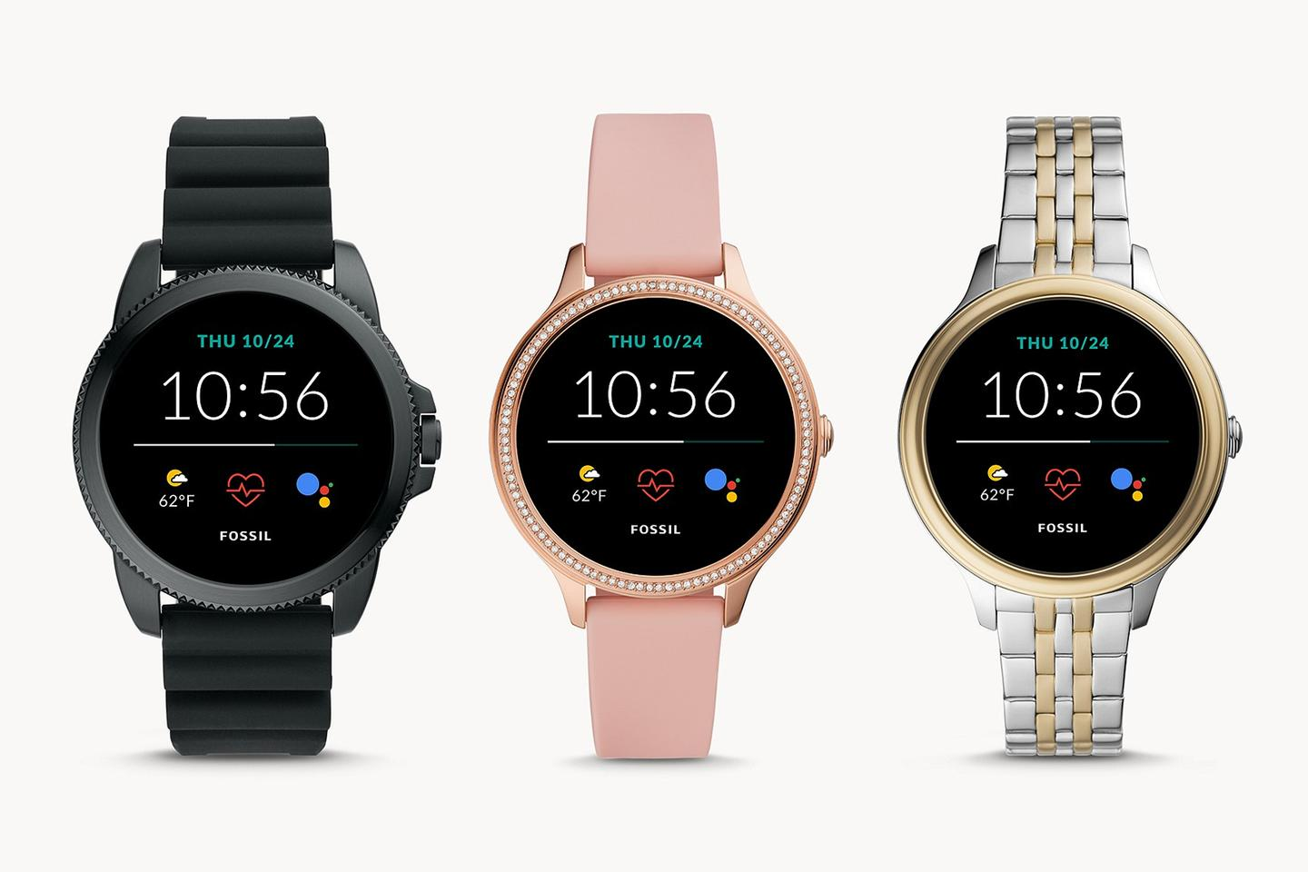 The new Fossil smartwatches come in seven different styles