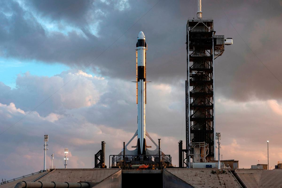 SpaceX's Falcon 9 rocket, pictured here, will be used to launch a set of 60 satellites into orbit for the company's Starlink project