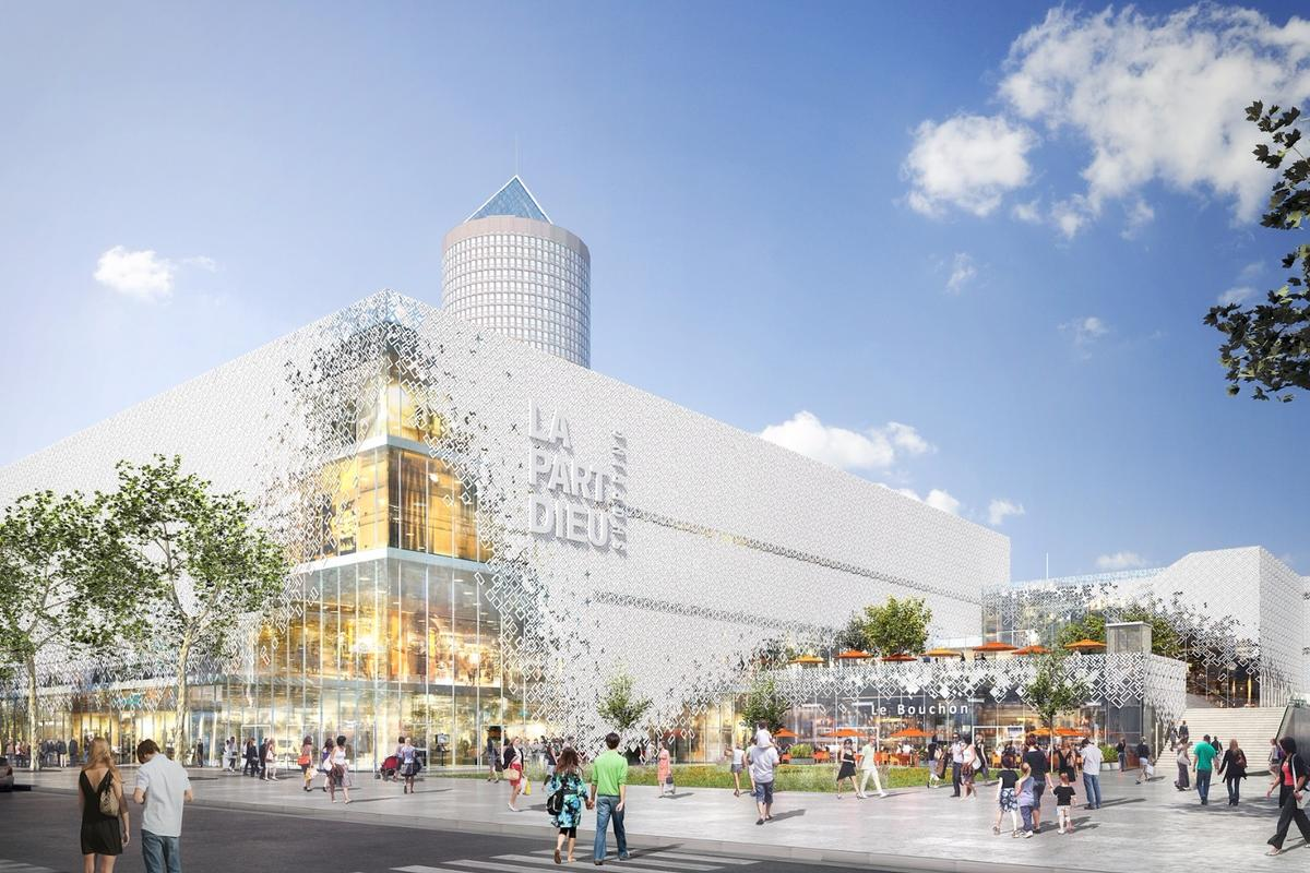 MVRDV says its design is aimed at better integrating the Part-Dieu shopping center with the surrounding urban fabric