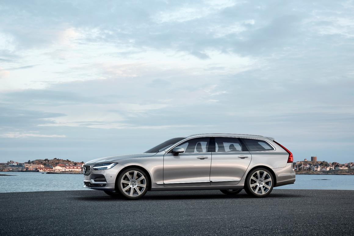 The V90 will be available with a hybrid powertrain, but expect plenty of buyers to go for the long-legged diesel