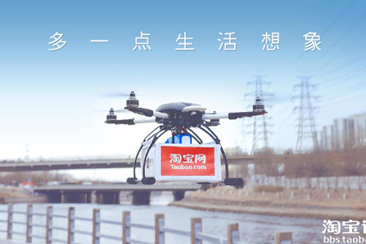 Up to 450 customers in three Chinese cities are receiving their tea via quadcopter (Photo: Taobao Marketplace)