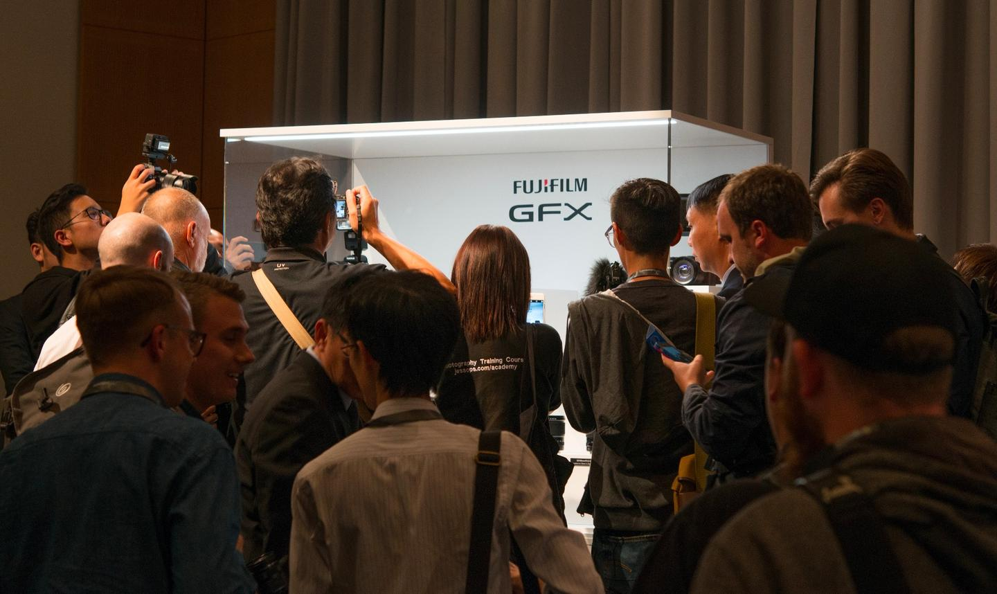 The Photokina scrum to see the Fujifilm GFX system