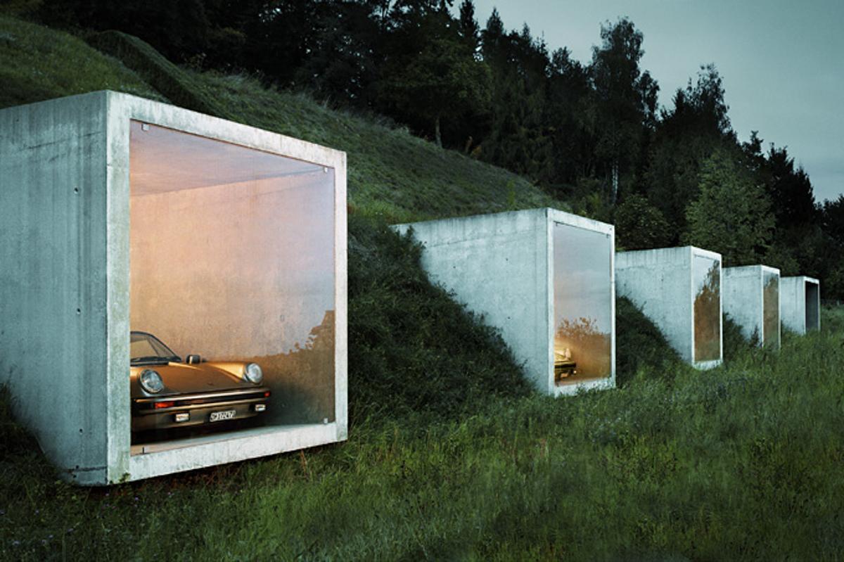 """The """"Batcave"""" garage, located in Herdern, Switzerland"""