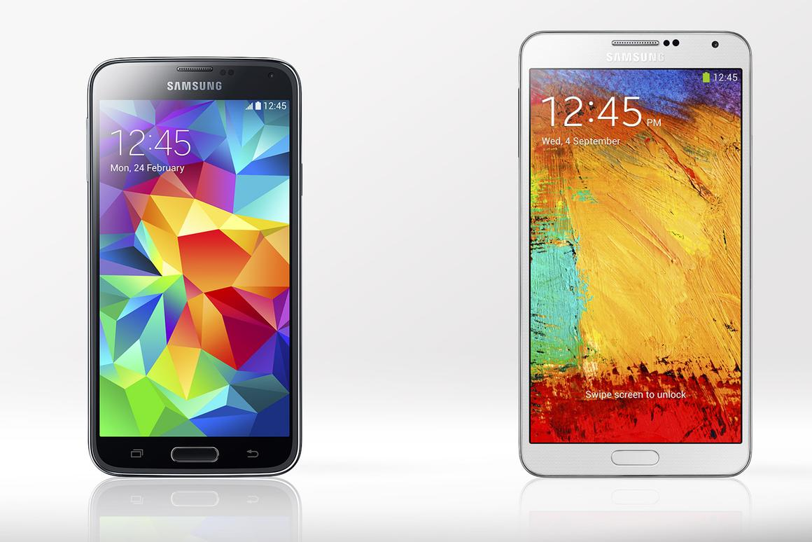 Gizmag compares the features and specs of the Samsung Galaxy S5 and Galaxy Note 3