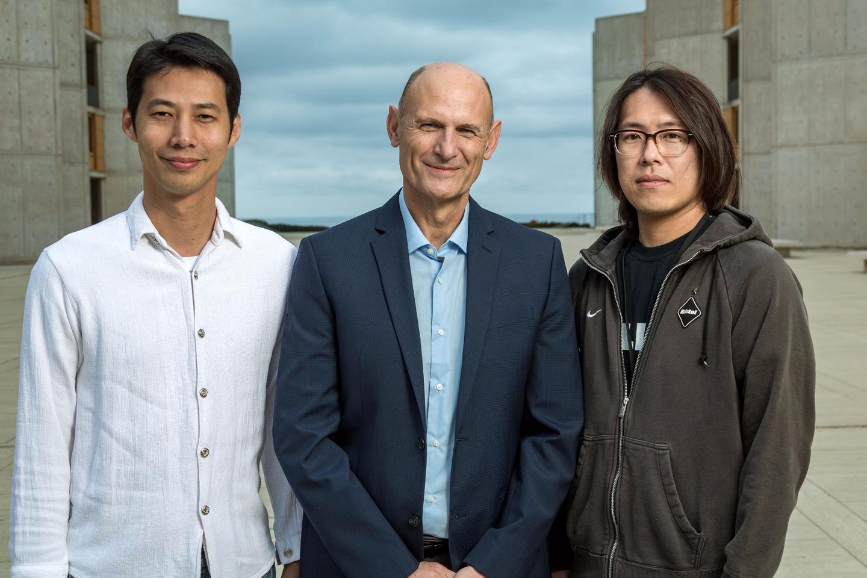 The researchers on the study, from left:Hsin-Kai (Ken) Liao, Juan Carlos Izpisua Belmonte and Fumiyuki Hatanaka