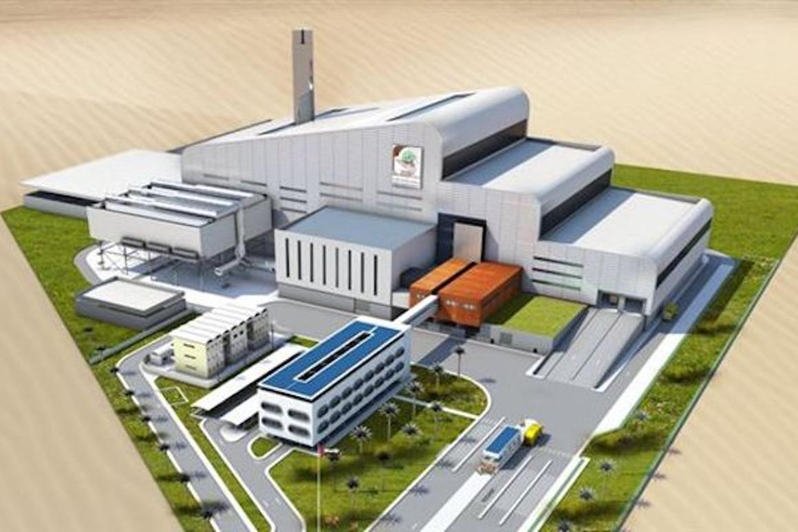A rendering of the world's largest waste-to-energy plant, which is proposed to be built in Dubai by 2020