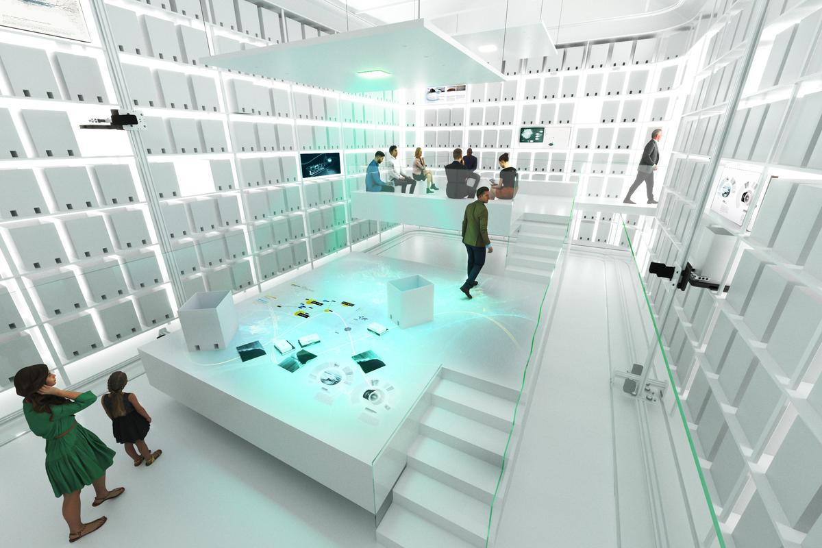 The MAE Museum's interior will be mostly built from carbon fiber, some of which will be recycled
