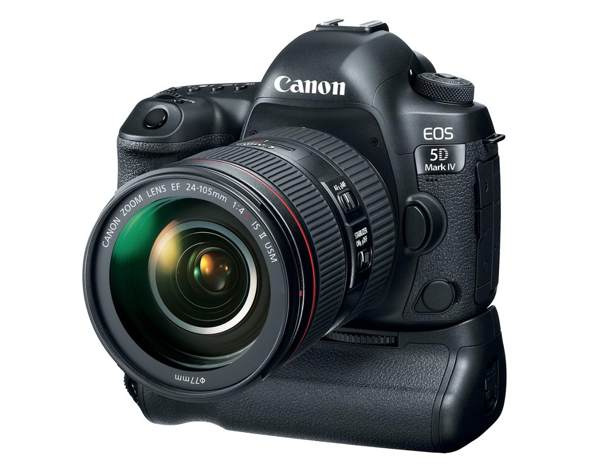 The 5D MkIV with the optional battery grip fitted