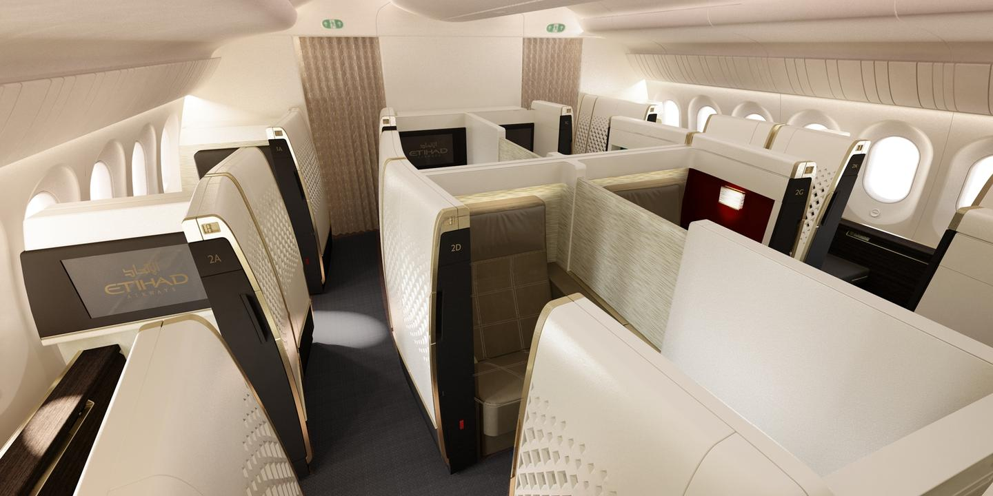 Etihad Airways won the Cabin Concepts category for clever use of space in its Boeing 787