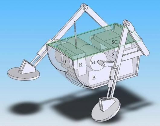 An early design of the Water Runner Robot.