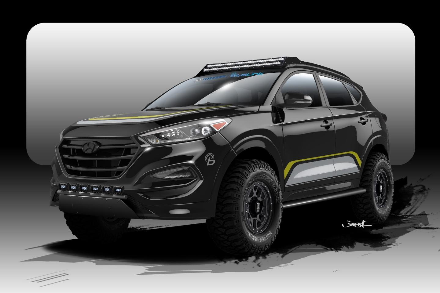 Hyundai and Rockstar Performance Garage will present a rugged, off-road-ready version of the Tucson crossover at SEMA