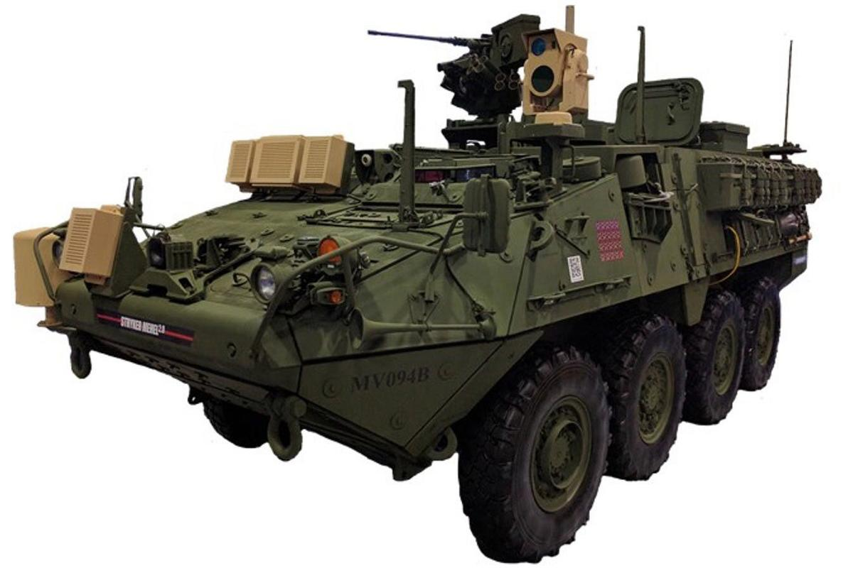 MEHEL is a laser test bed on a Stryker armored fighting vehicle chassis and serves as a platform for research and development