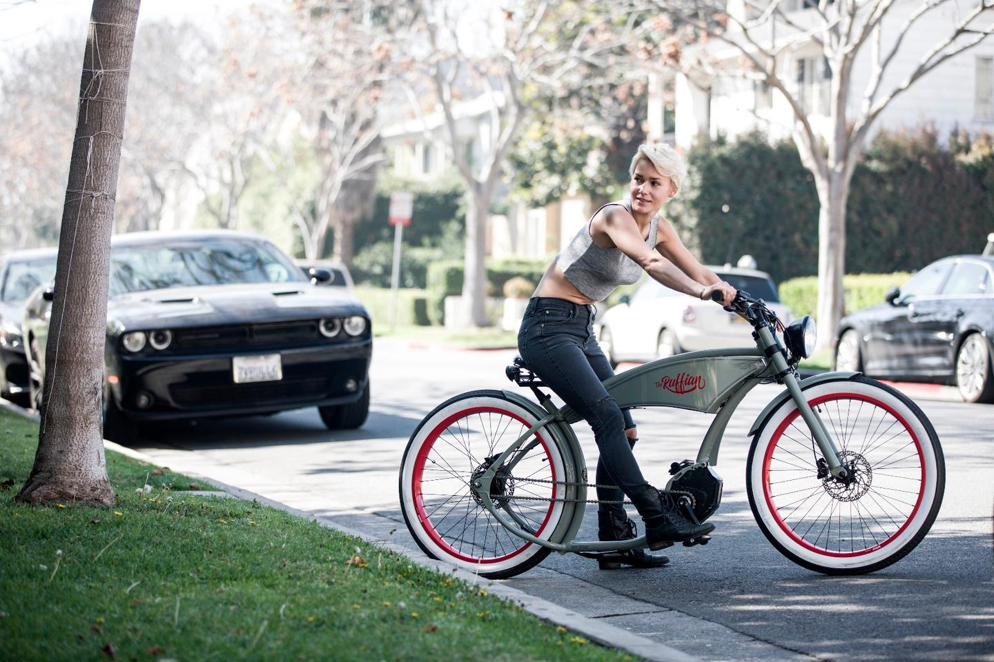 The Ruffian e-bike is available in three different colors