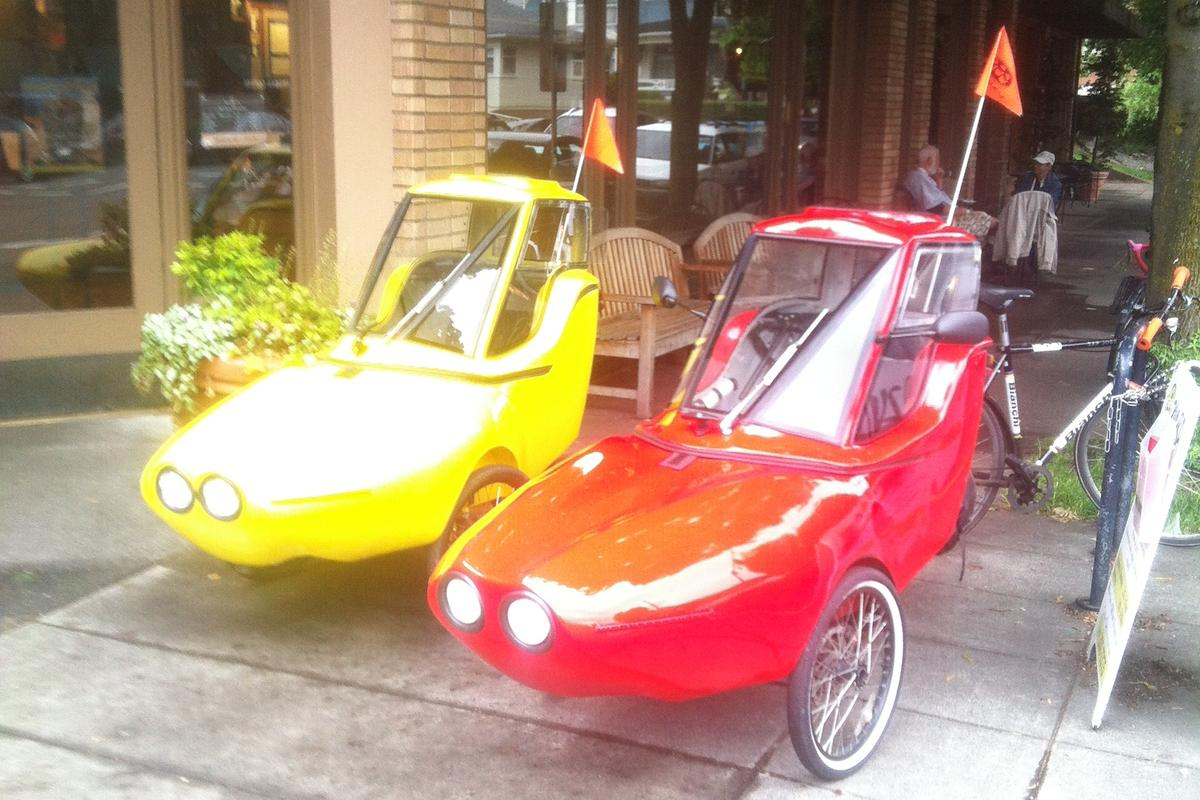 The Tripod is an electric-assist velomobile made in Portland, Oregon