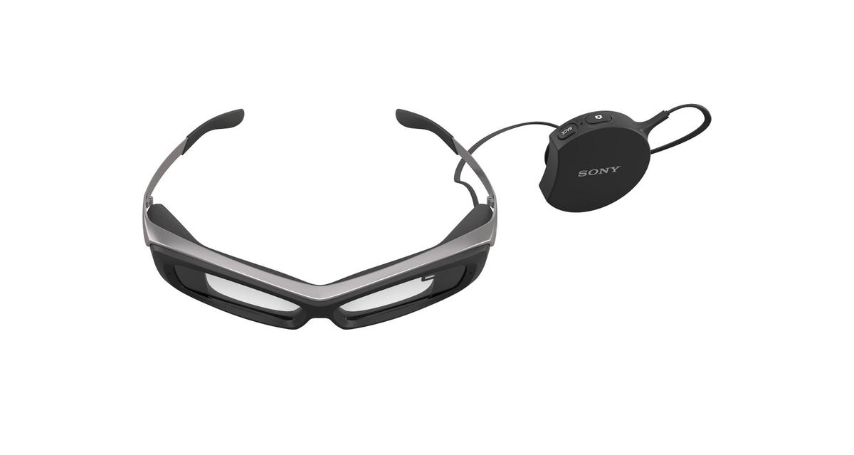 Sony's Smart Eyeglass has controls housed in a separate wired device