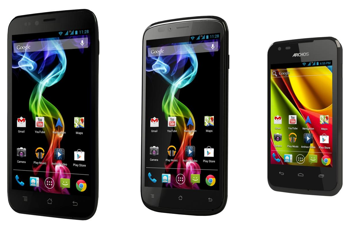 Archos has launched three new low to mid-end smartphones