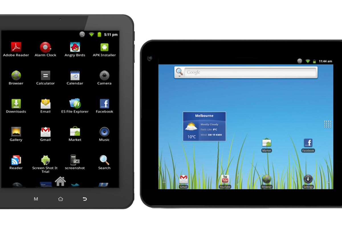 Kogan's Agora tablet lineup now includes 8- and 10-inch models (not to relative scale)