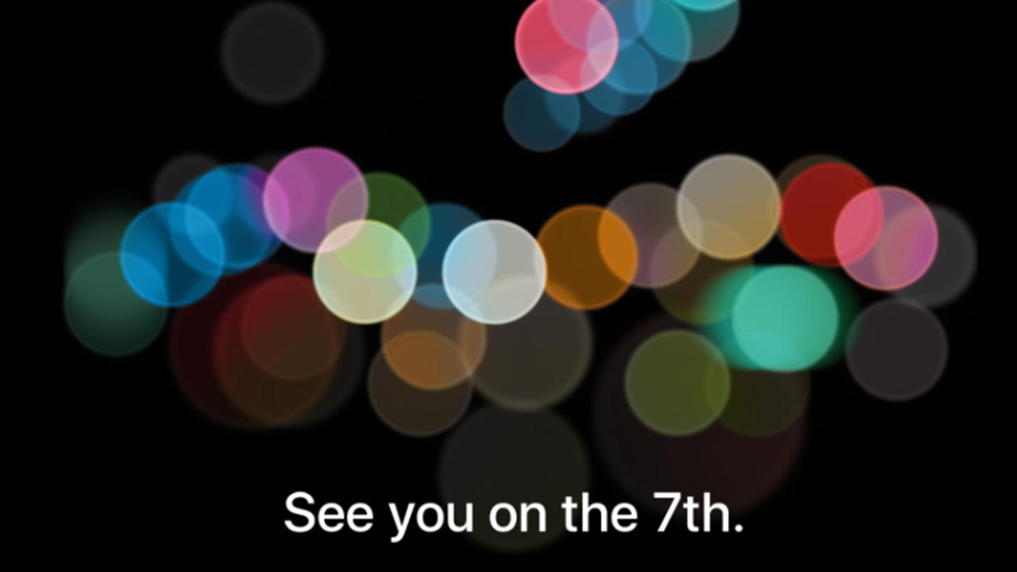 Apple's announcement for the September 7, 2016 event