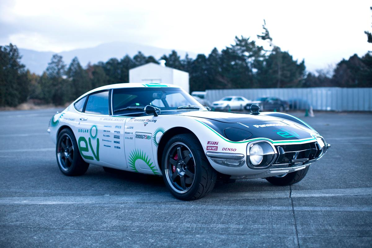 Japan's Crazy Car Project has converted an iconic 2000GT into a solar-electric sports car