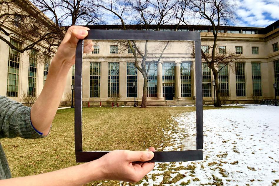 A transparent film applied to officewindows could significantly reduce incoming solar heat