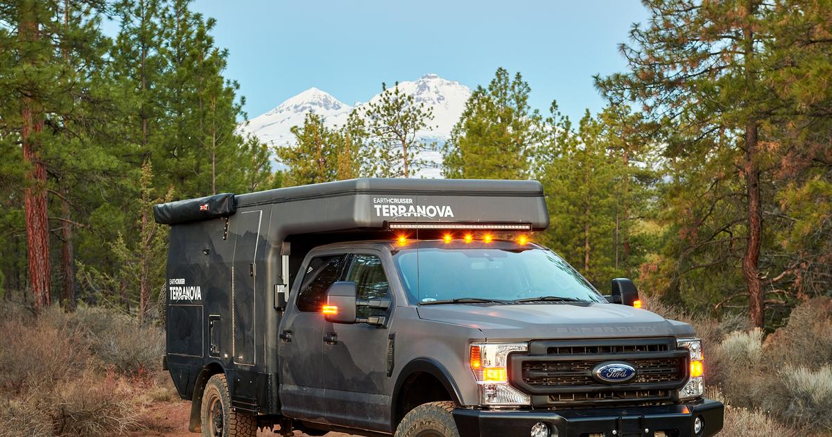 Earthcruiser Ford F 350 Pop Top Camper Adapts To Modern Explorers Fuentitech