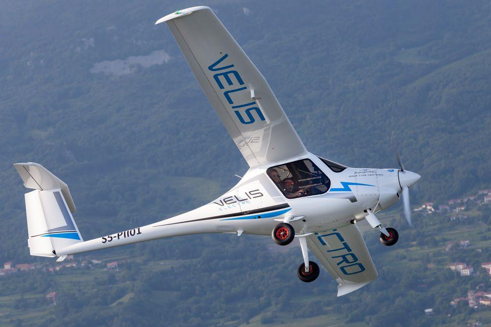 The Velis Electro is an electric two-seater trainer aircraft