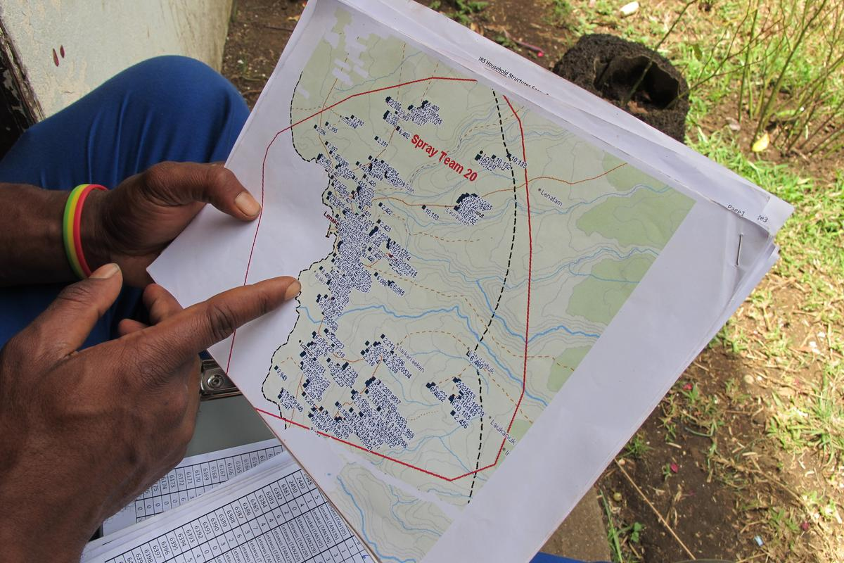 Satellite and GIS data is helping developing countries better manage limited resources in the fight against parasitic diseases (Photo: Lasse S. Vestergaard/WHO)