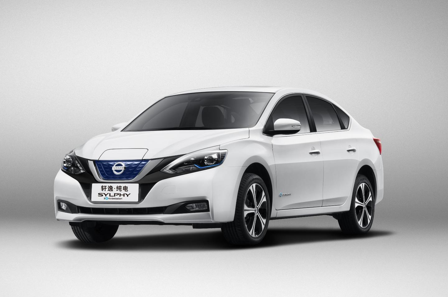 Based on the Nissan Leaf electric car, the Sylphy is larger and has more interior room