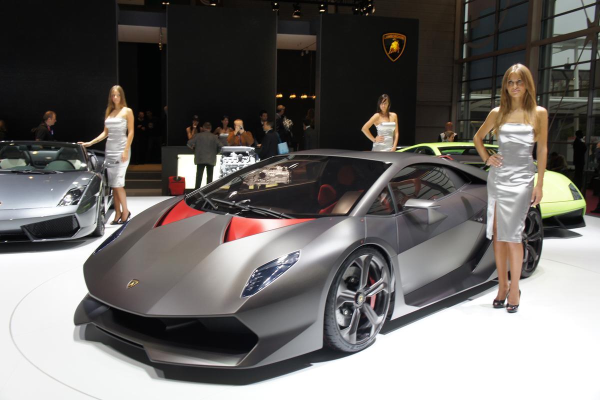 Lamborghini's Sesto Elemento on display at the Paris Motor Show