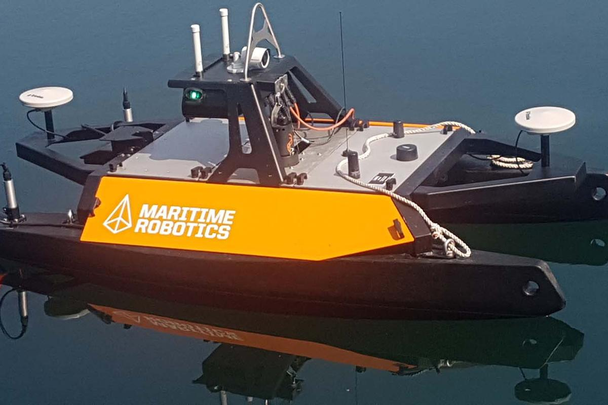 The Otter Pro remote-controlled vessel for conducting underwater survey operations