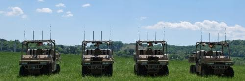 Designed to assist Marines in the field, the GUSS autonomous vehicles can carry a load of up to 1800 lbs
