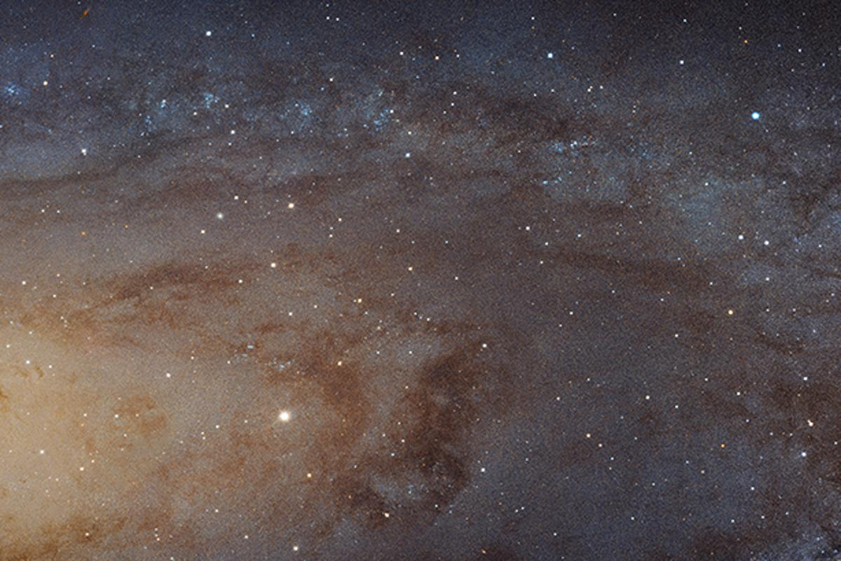 Hubble image of a portion of the Andromeda spiral galaxy